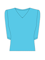 3/4 Sleeve V-Neck (15+ Colors)